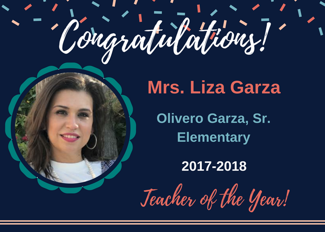 O. Garza, Sr. Elementary Teacher of the Year